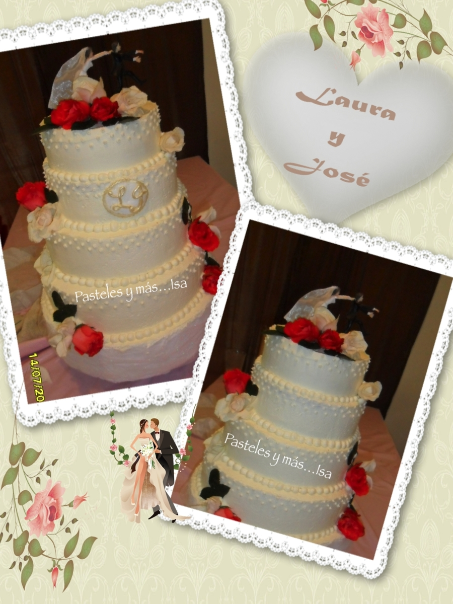Roses & Dots  on Cake Central