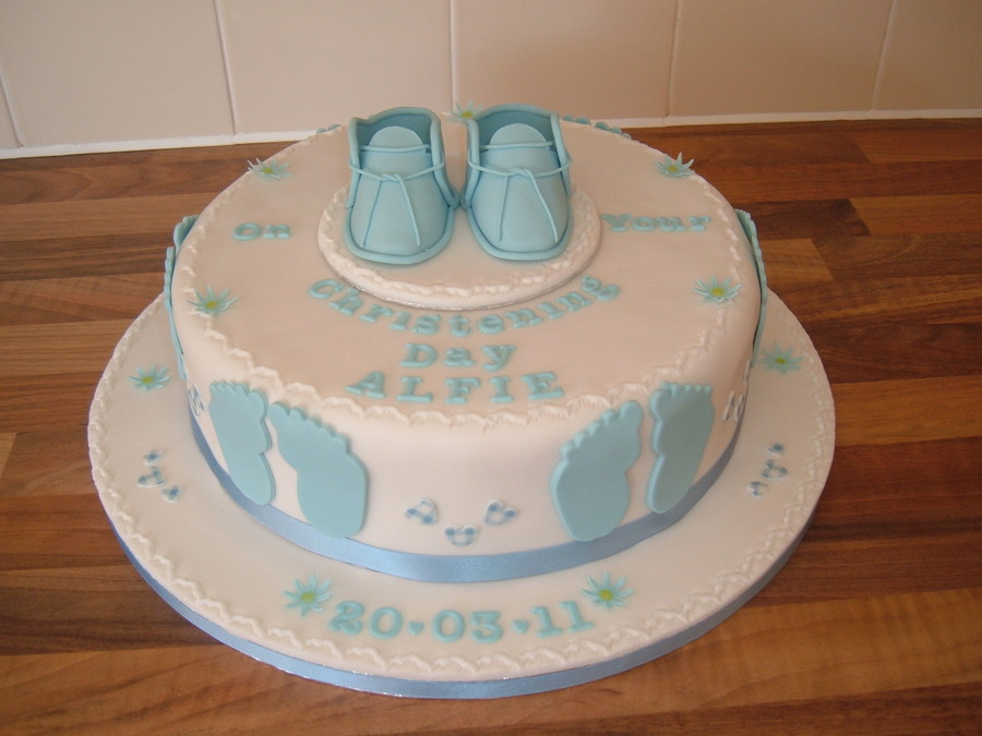 Footprints And Booties on Cake Central