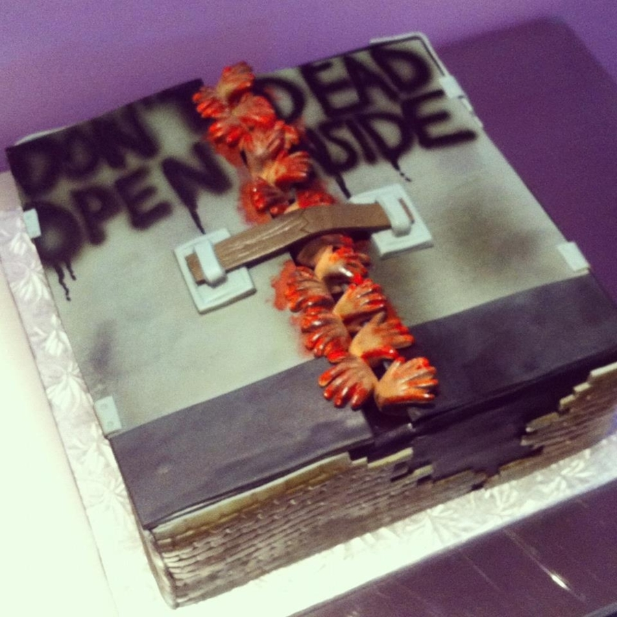 Walking Dead Zombie Cake on Cake Central