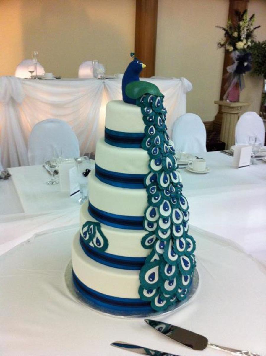 Peacock Wedding Cake.Peacock Wedding Cake Cakecentral Com