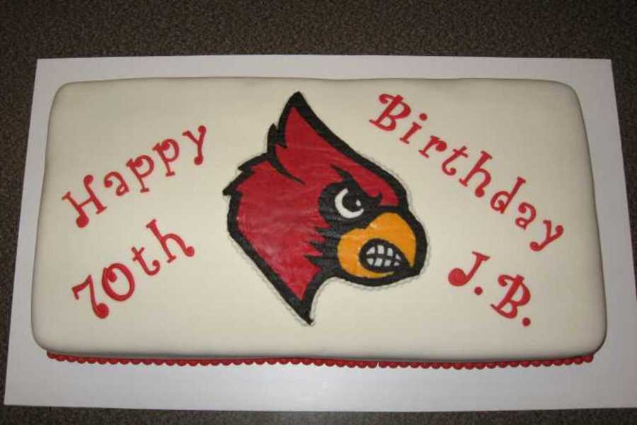 Uofl Cardinal Birthday Cake on Cake Central