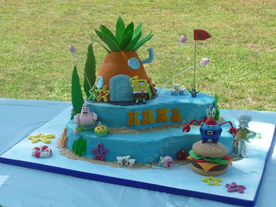 Brilliant Bikini Bottom Birthday Cake Cakecentral Com Funny Birthday Cards Online Kookostrdamsfinfo