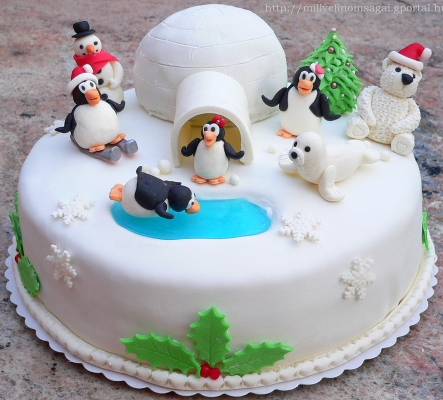 Penguin Christmas Cake Recipe