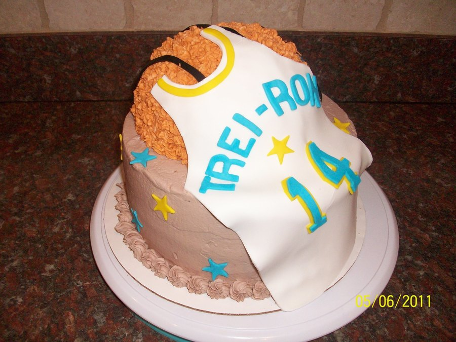 Basketball Jersey on Cake Central