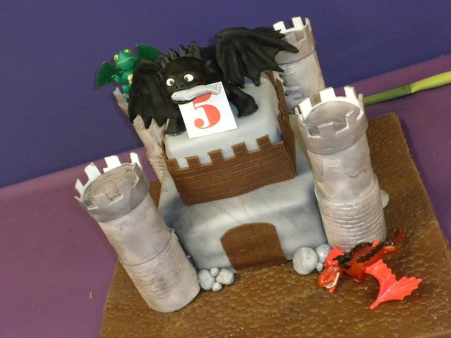 How To Train Your Dragon Castle Cake on Cake Central