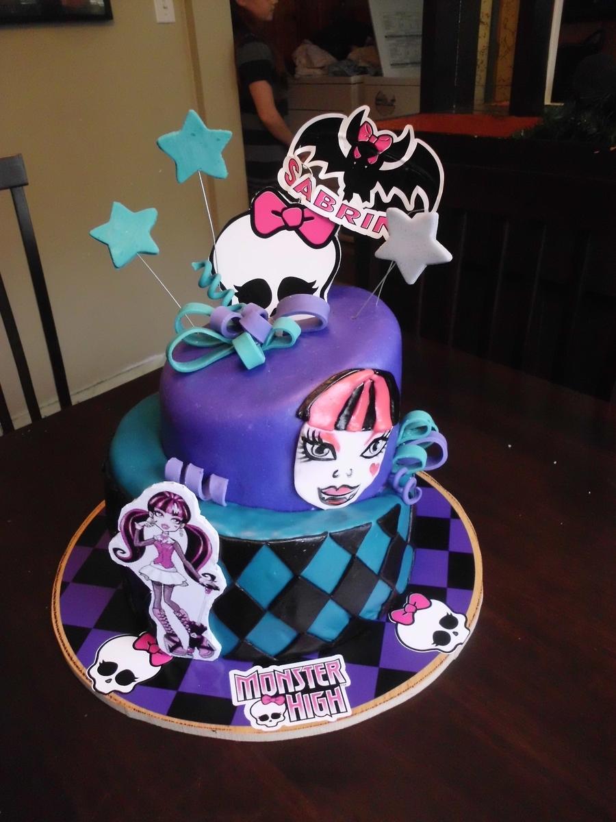 Monster Themed Birthday Cake