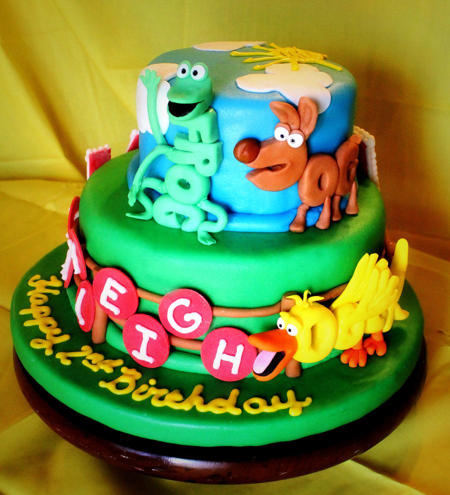 Word World 2Nd Birthday Cake