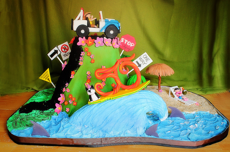 Over The Hill Quot Jeep Enthusiast Cake Cakecentral Com
