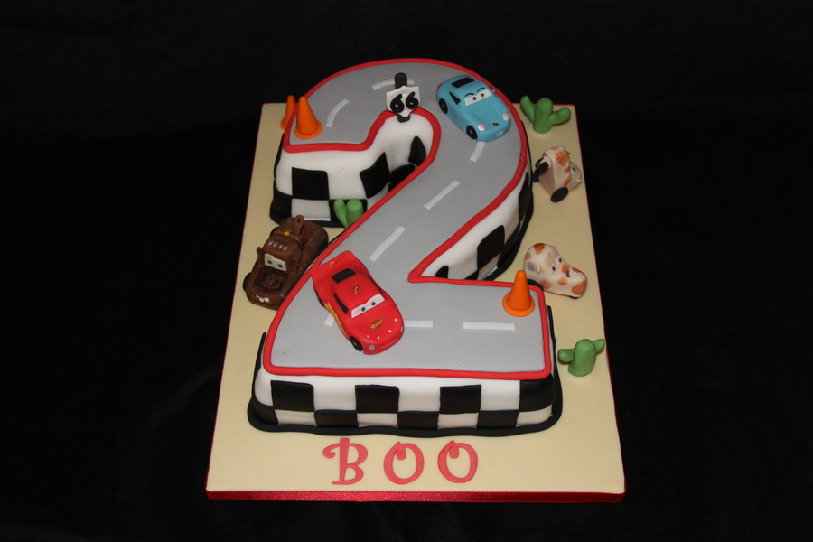 Number 2 Cars Cake on Cake Central