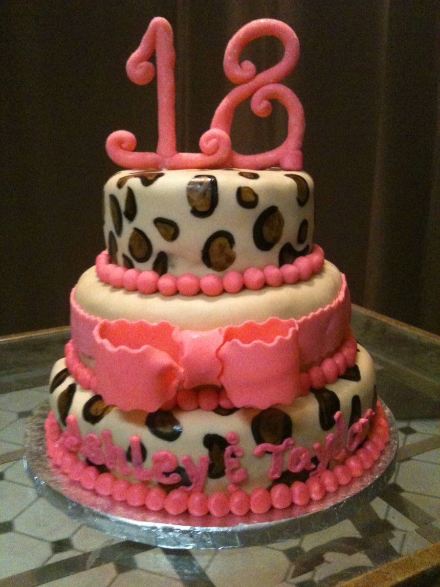 Cheetah Print Cake on Cake Central