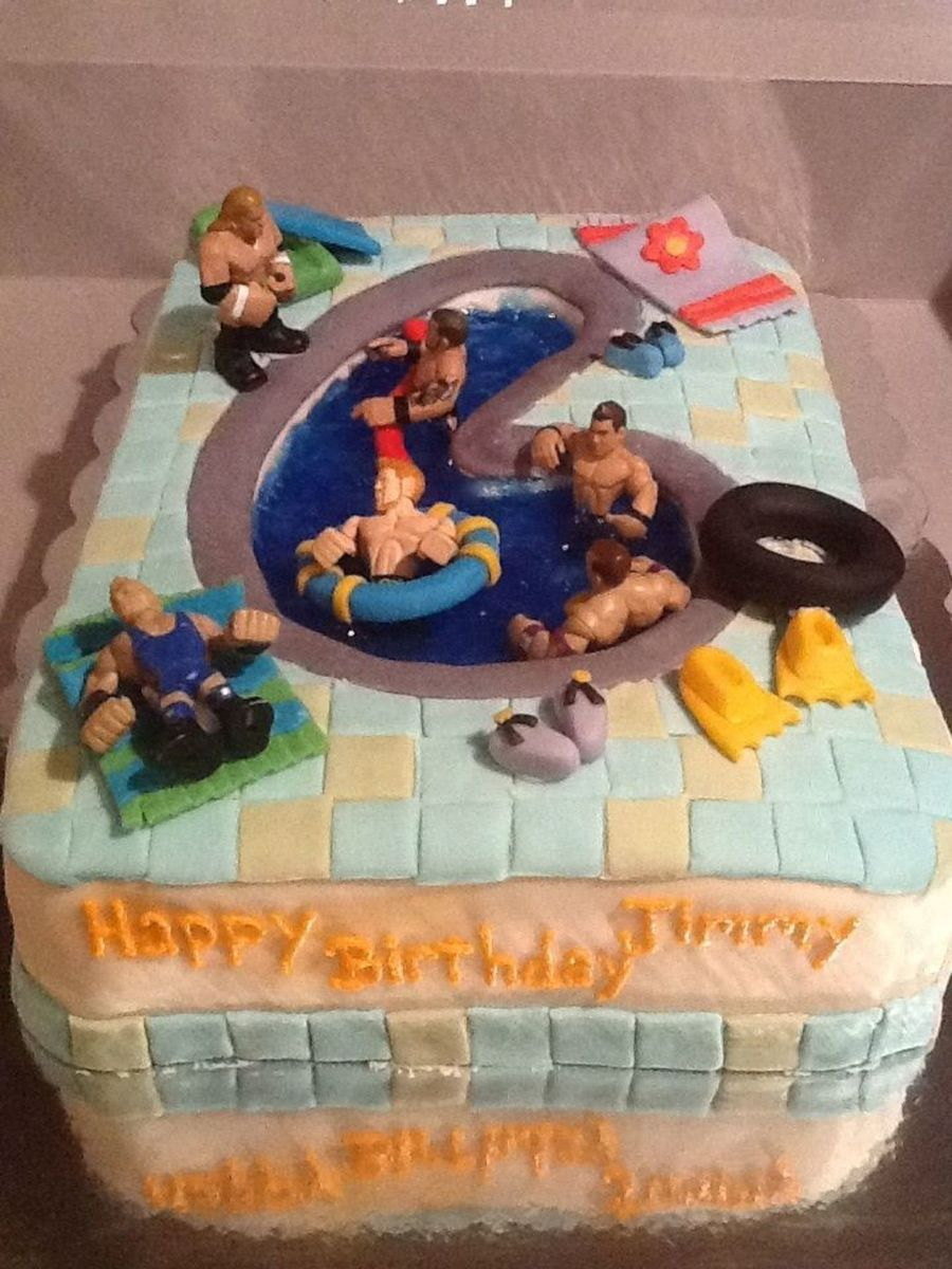 Pool Party Cake This Is A Vanilla 14 Sheet Cake Decorated