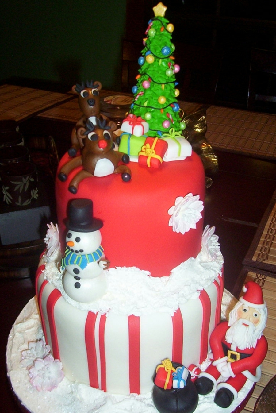 Christmas Themed Birthday Cake Cakecentral Com