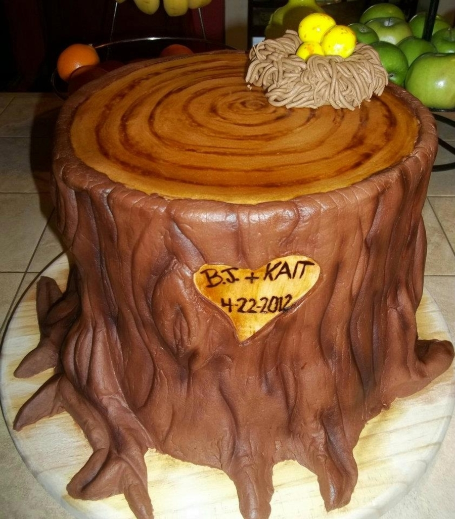 Tree Stump Wedding Cake on Cake Central