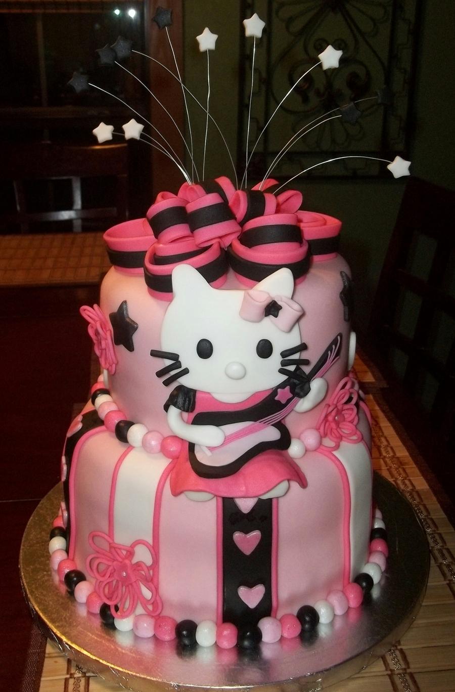 Hello Kitty Rockstar Cake Cakecentral Com