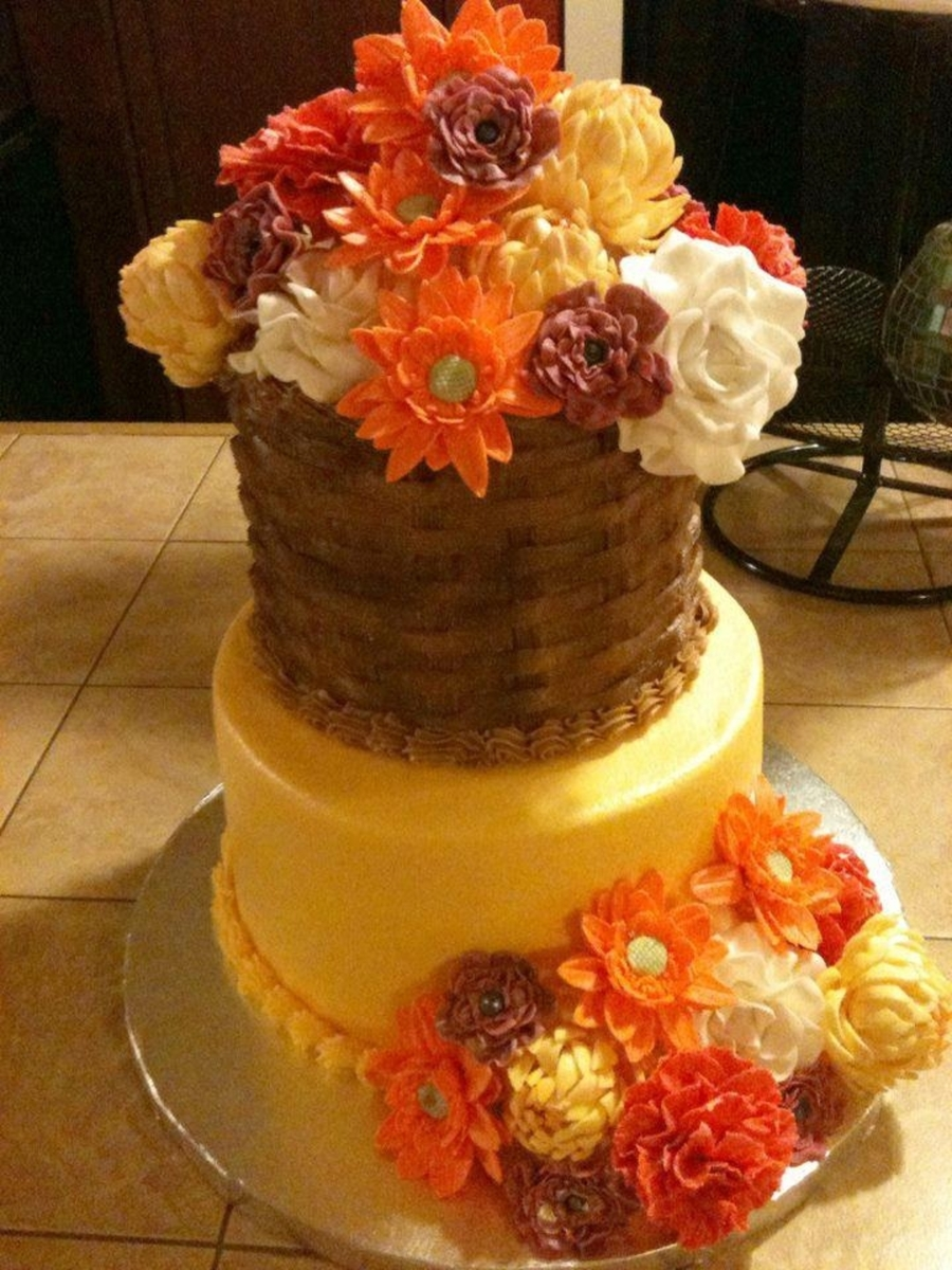 Fall Flower Cake on Cake Central