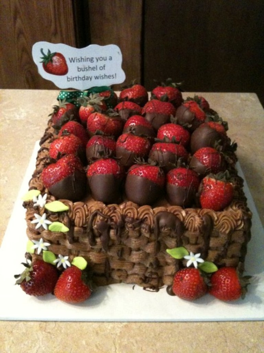 Chocolate Strawberries In Basket on Cake Central