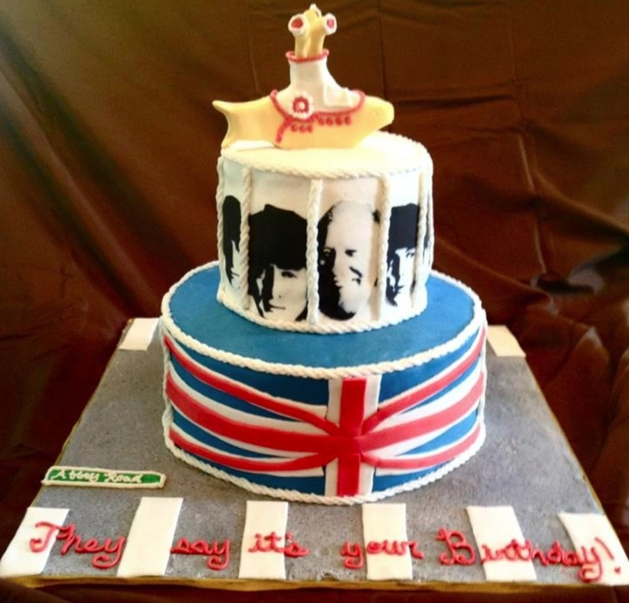 Beatles Birthday Cake on Cake Central