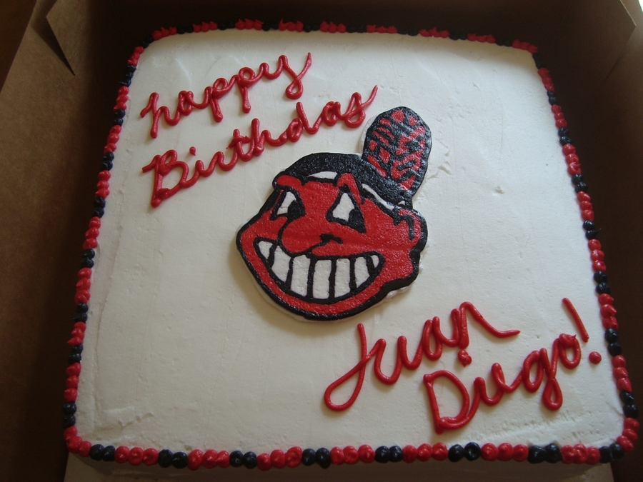 Cleveland Indians Birthday Cake on Cake Central