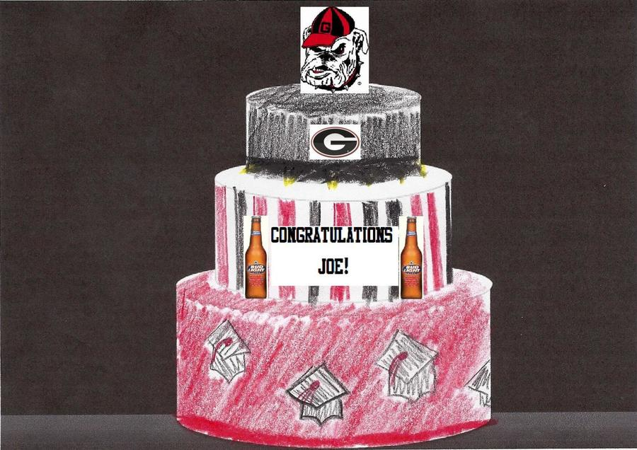 Rough Sketch Of Graduation Cake. on Cake Central