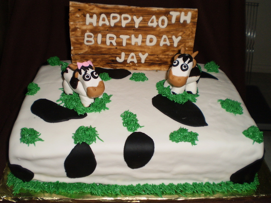 Phenomenal Cow Themed Birthday Cake Cakecentral Com Funny Birthday Cards Online Overcheapnameinfo