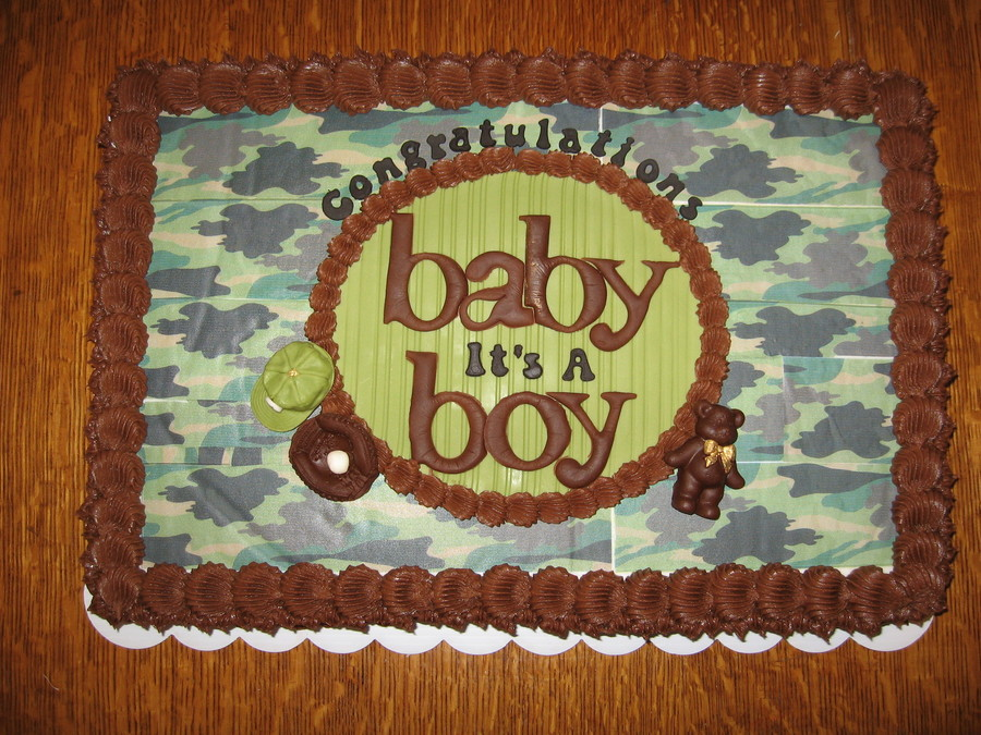 Co-Ed Cammo Baby Shower on Cake Central