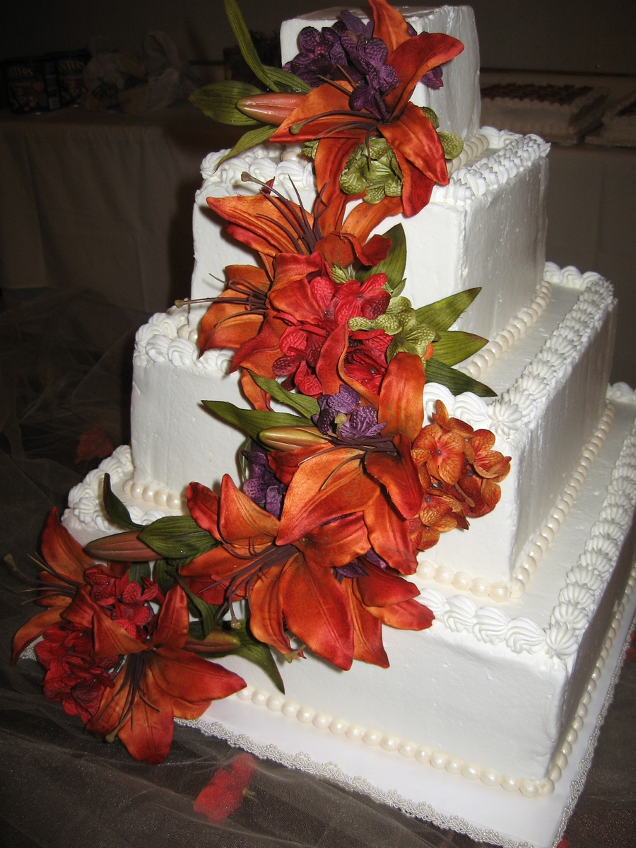 Tiger Lily Cake on Cake Central