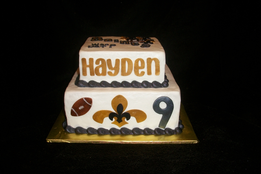 New Orleans Saints Birthday Cake Cakecentral