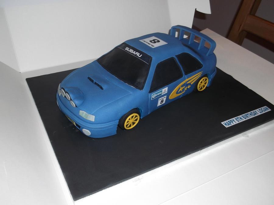 Subaru Impreza Birthday Cake