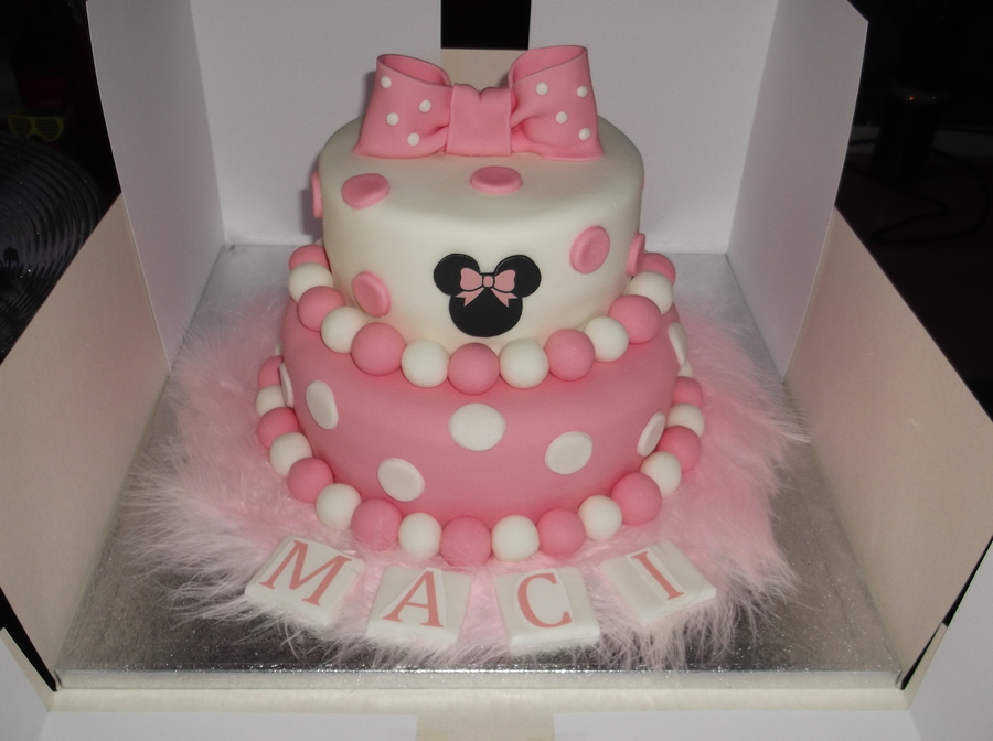 Minnie Mouse - 2 Tier on Cake Central