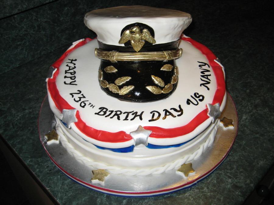 Tremendous Us Navy 236Th Birthday Cake Cakecentral Com Funny Birthday Cards Online Inifodamsfinfo