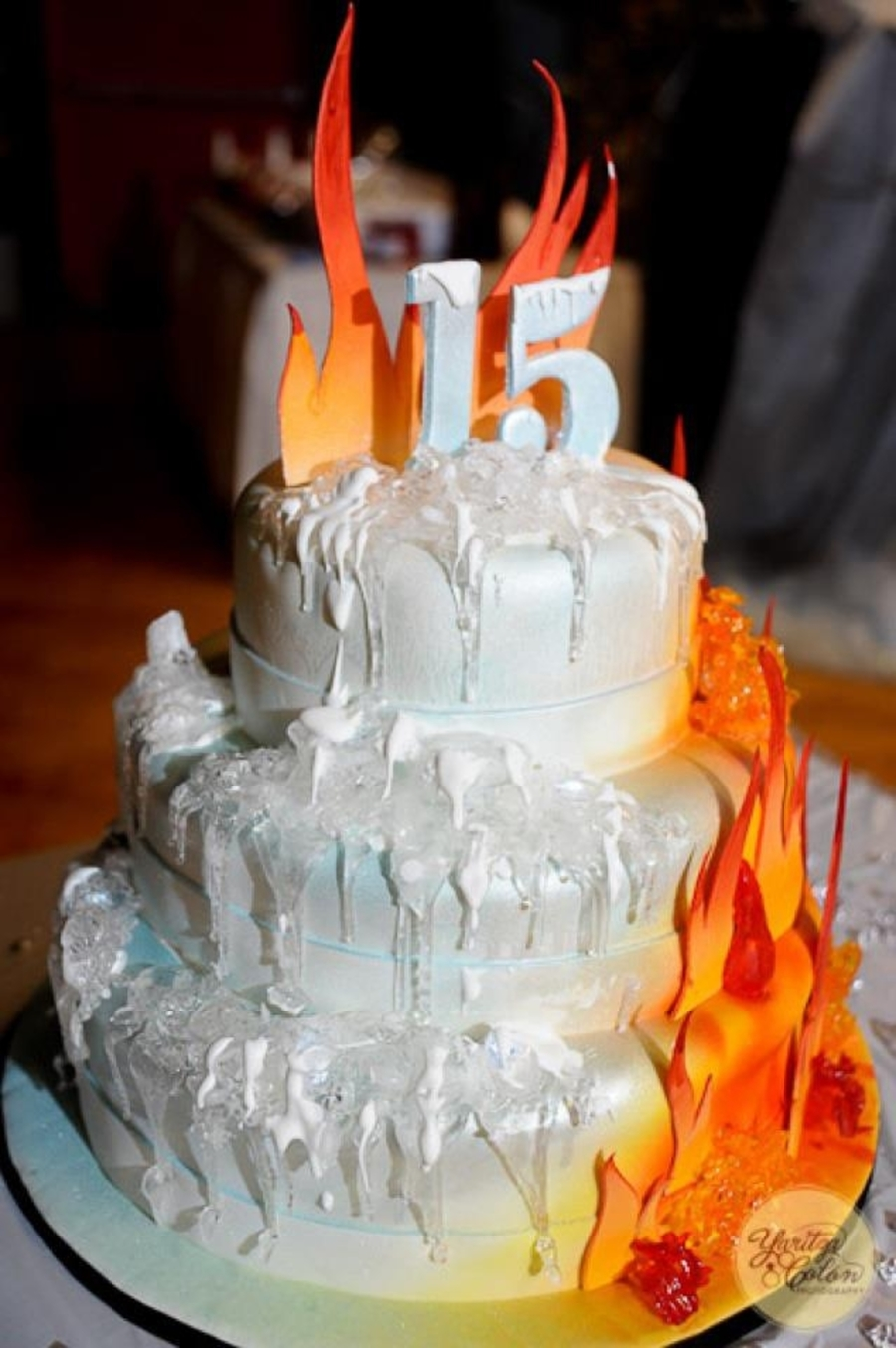 Fire And Ice Cake on Cake Central