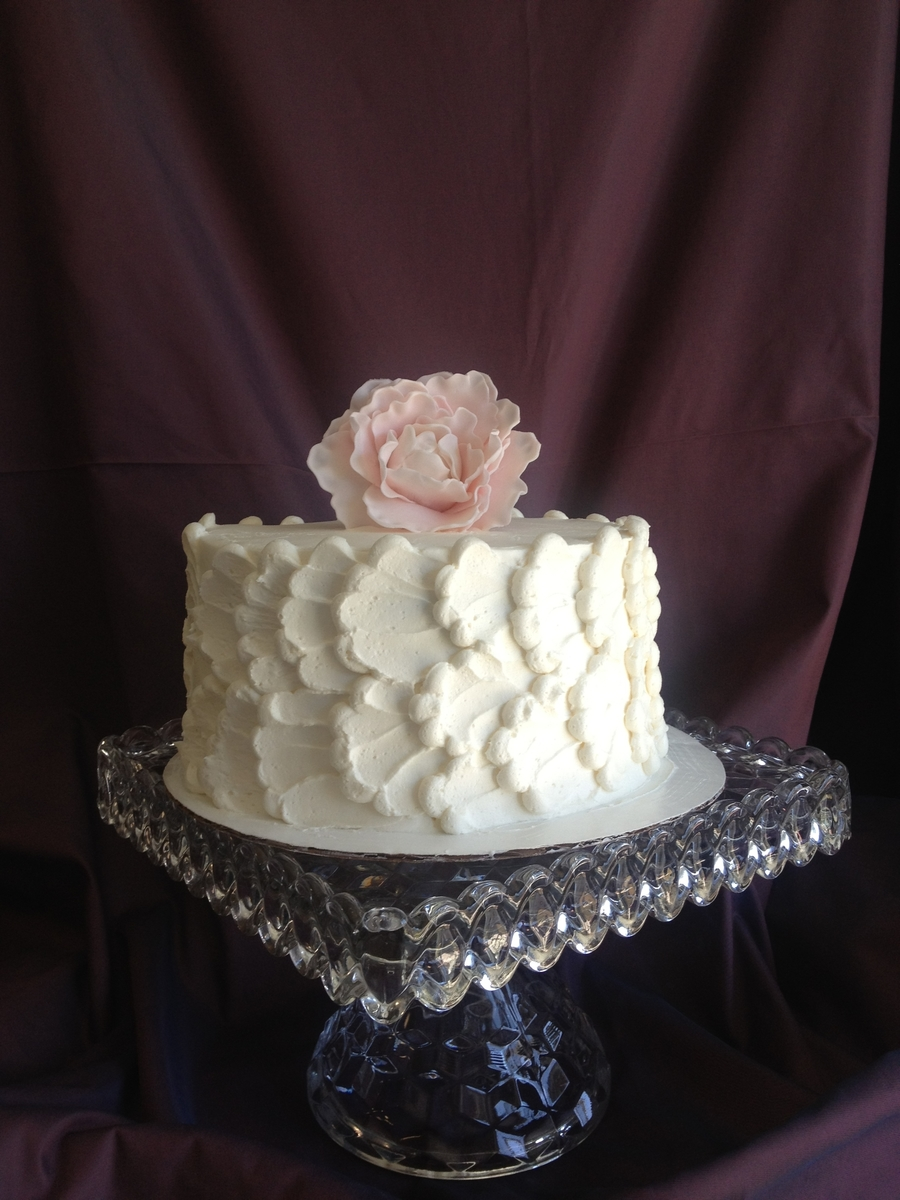 Piped Peony Cake on Cake Central