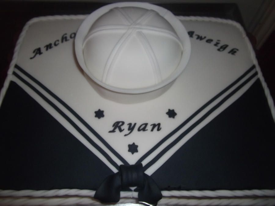 Ryan's Navy Cake on Cake Central