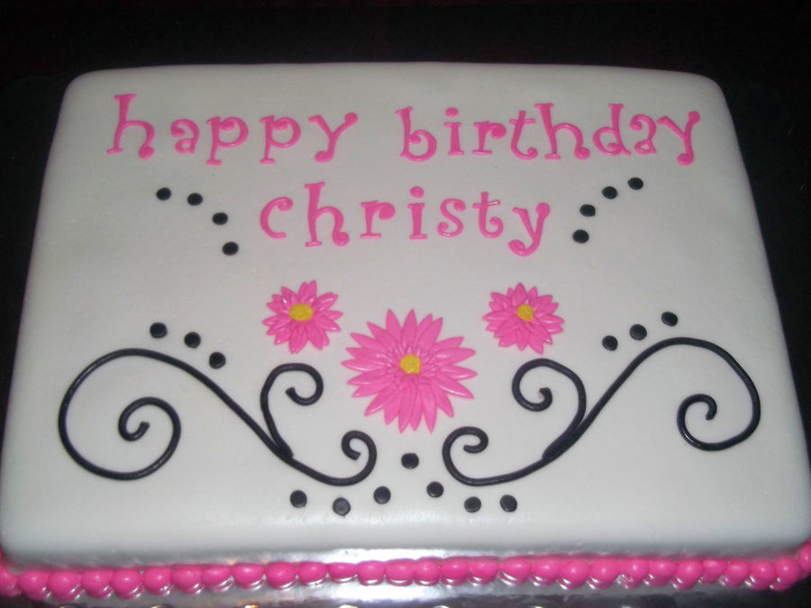 Happy Birthday Christy Cakecentral Com