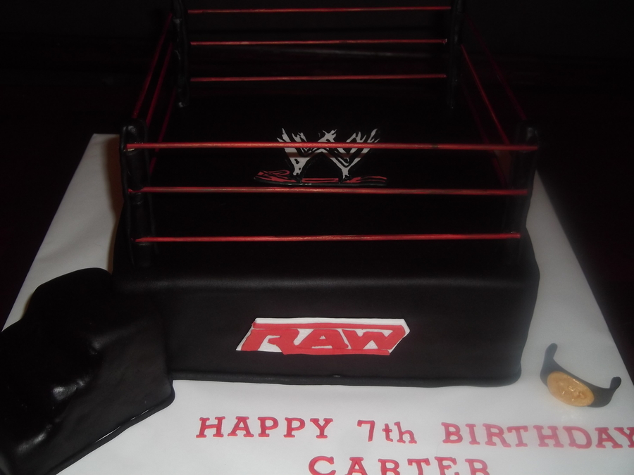 Carter Wrestling Ring on Cake Central