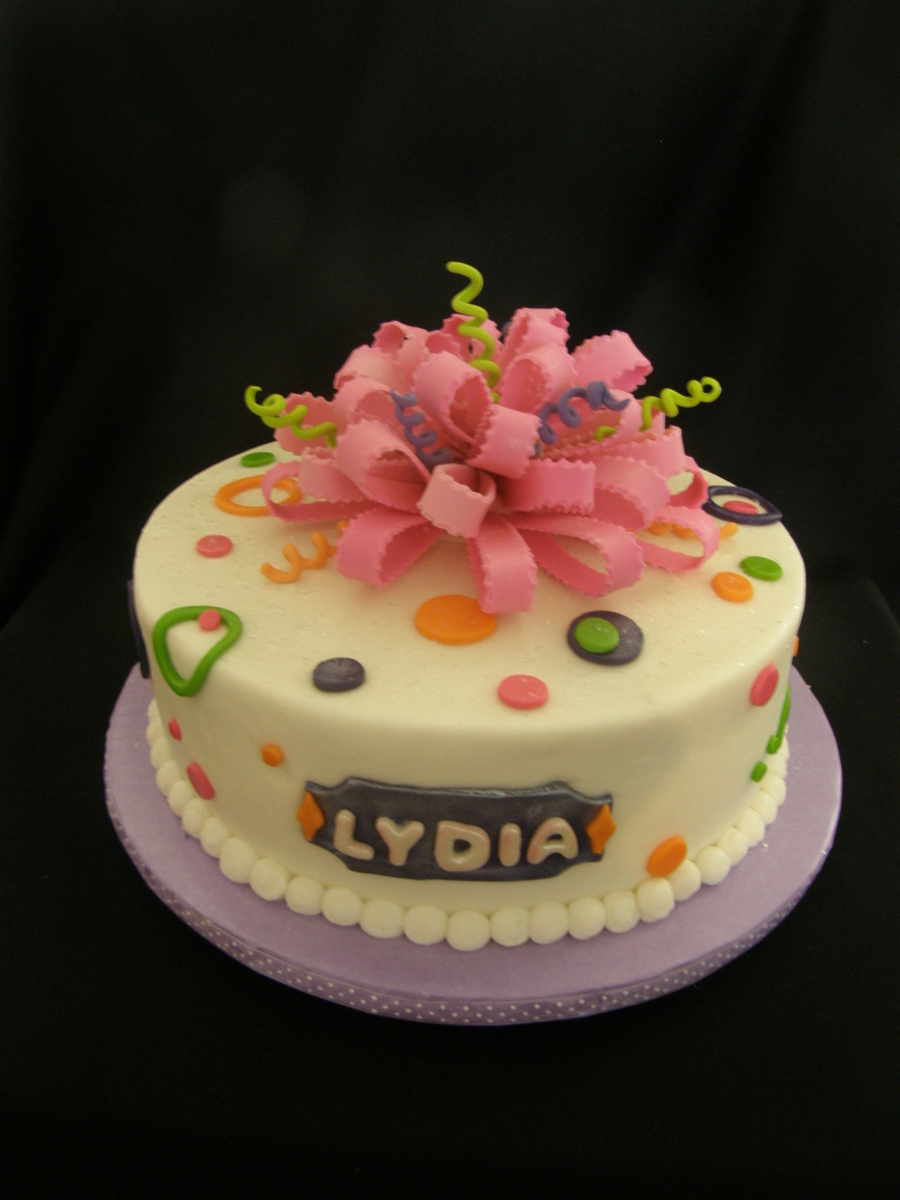 Lydia S 1st Birthday Cakecentral Com