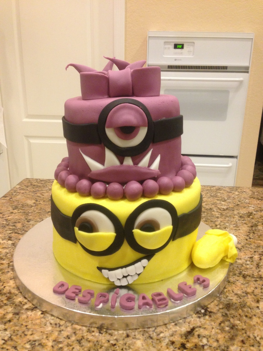 Despicable Three Made For My Daughters Birthday 8 Inch Round On The