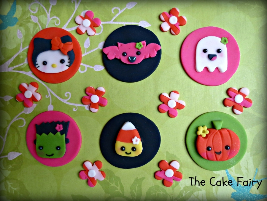 Kawaii Halloween Cupcake Toppers on Cake Central