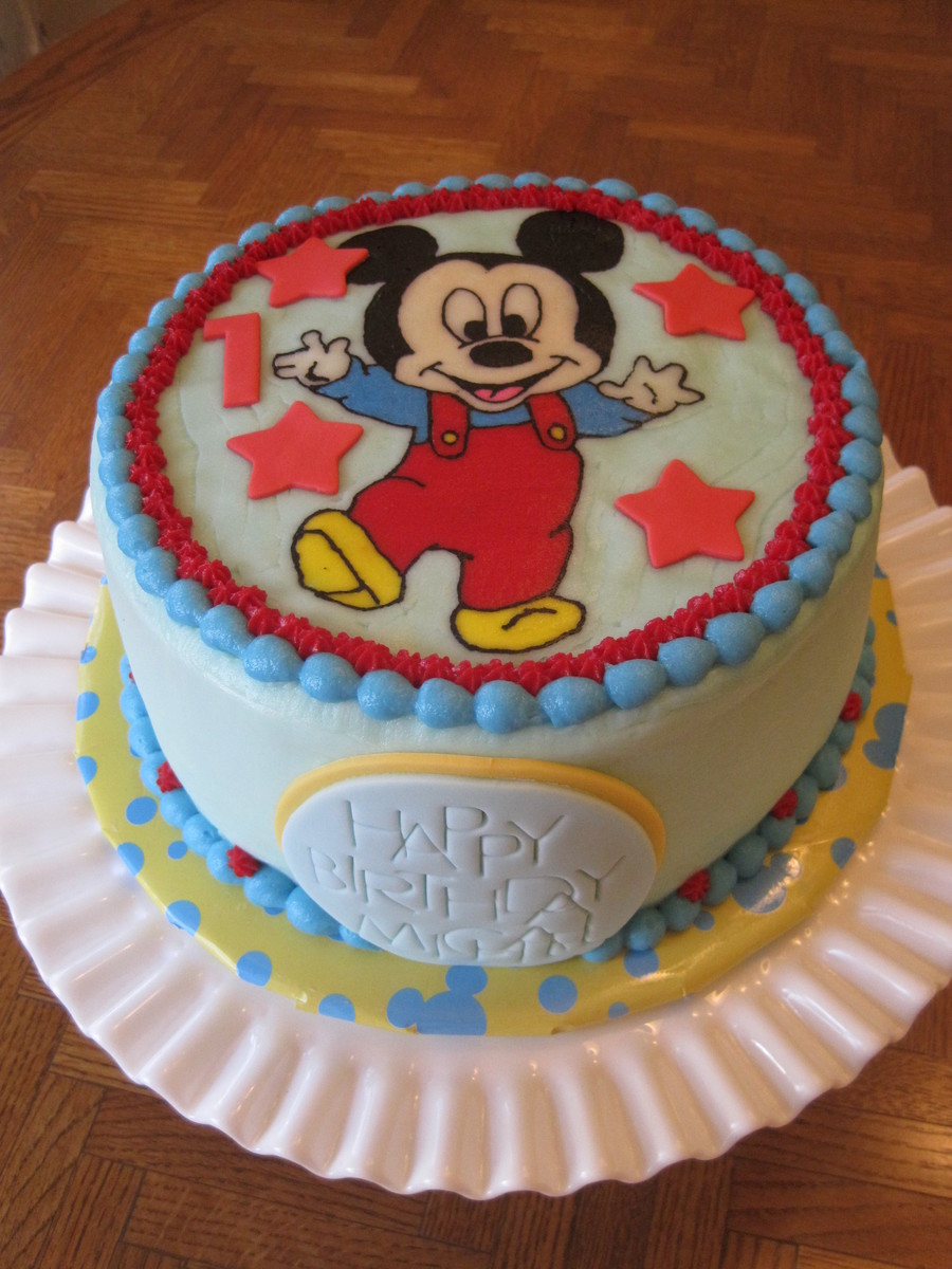 Pictures Of Baby Mickey Mouse Cakes