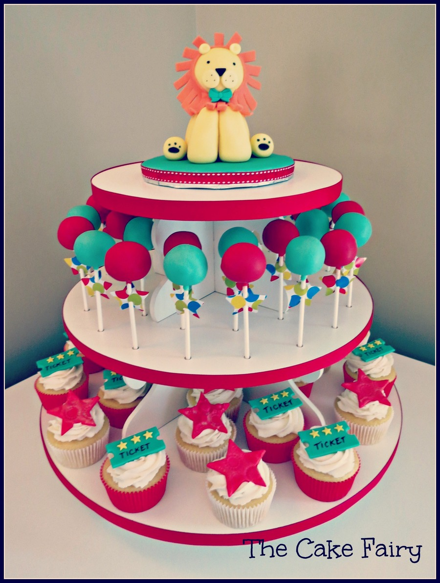 Circus Cupcake/cake Pop Tower on Cake Central