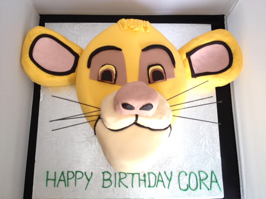 Simba Birthday Cake on Cake Central