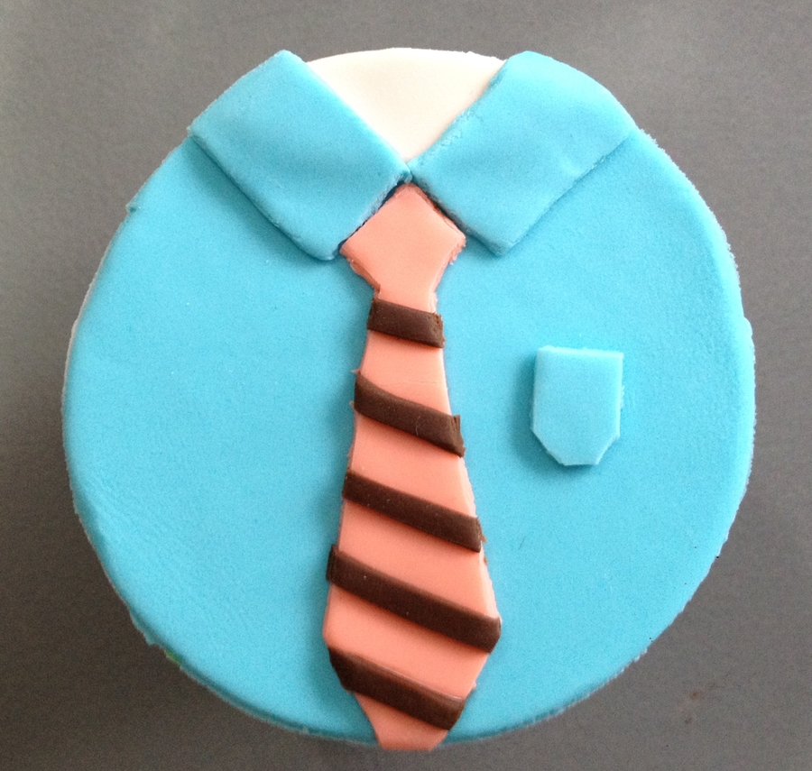 Shirt And Tie Cupcake on Cake Central