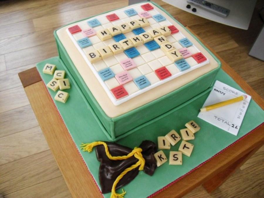 Scrabble Board Birthday Cake Cakecentral Com
