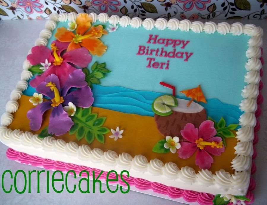 Hawaiian Theme on Cake Central