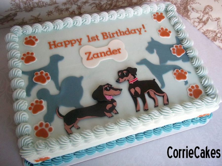 1St Birthday Doggies on Cake Central