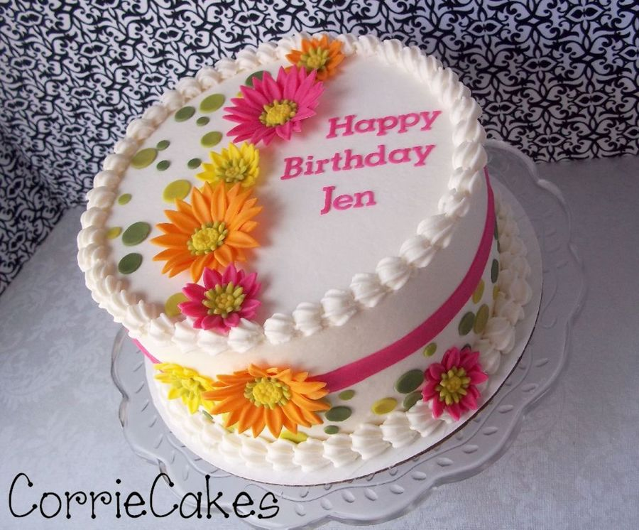 Happy Flowers  on Cake Central