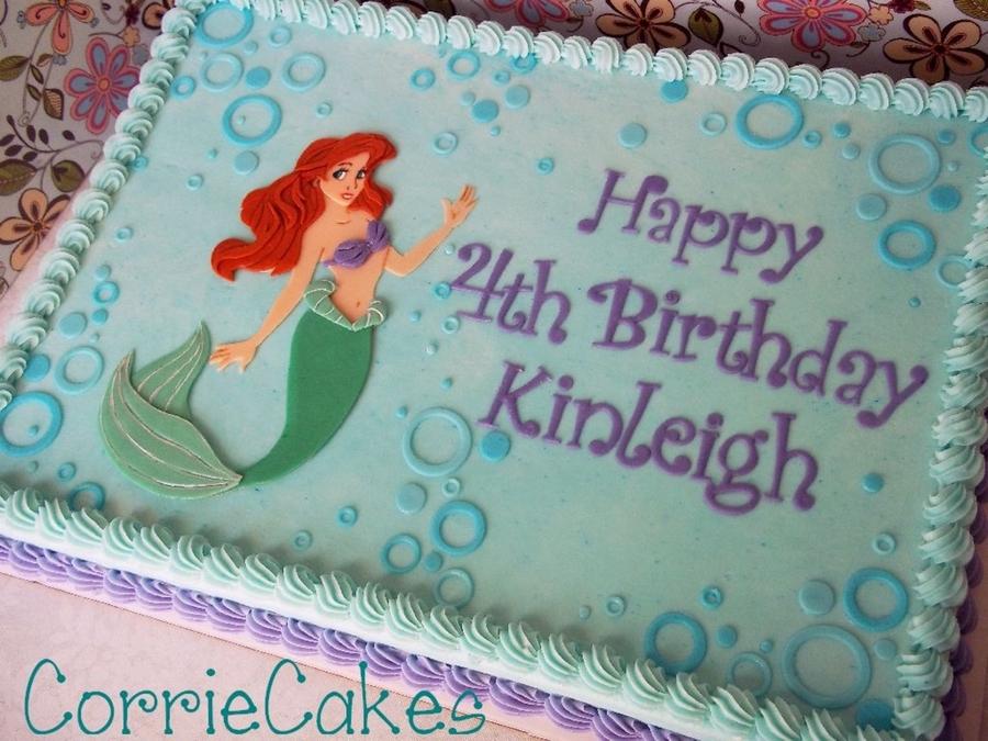 Mermaid Birthday Sheet Cake