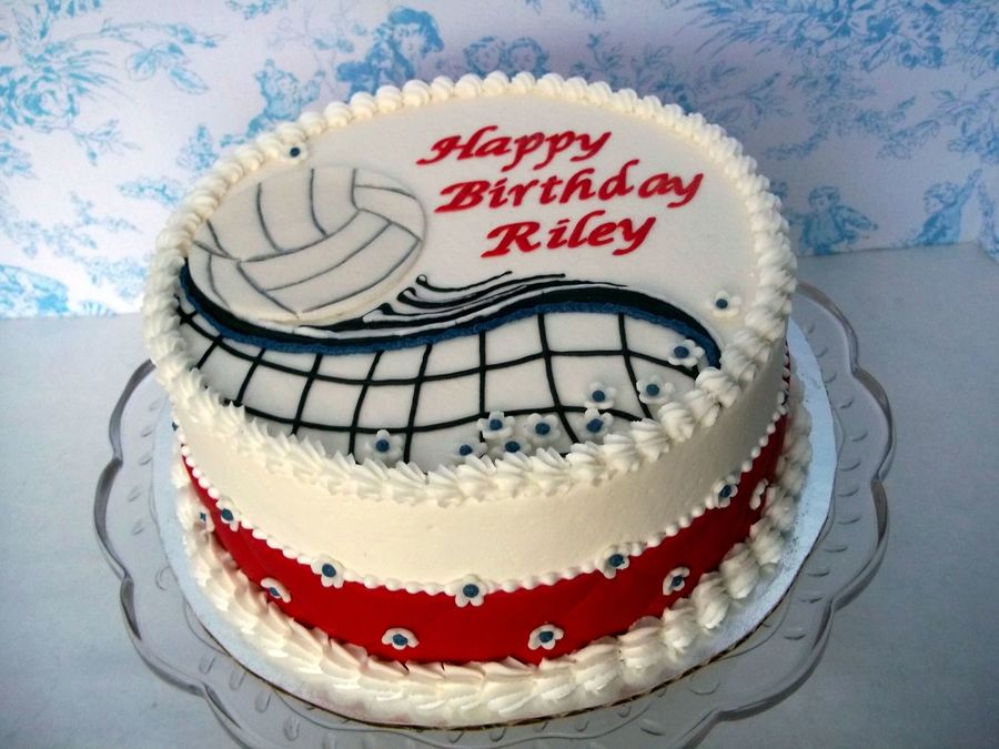 Volleyball on Cake Central