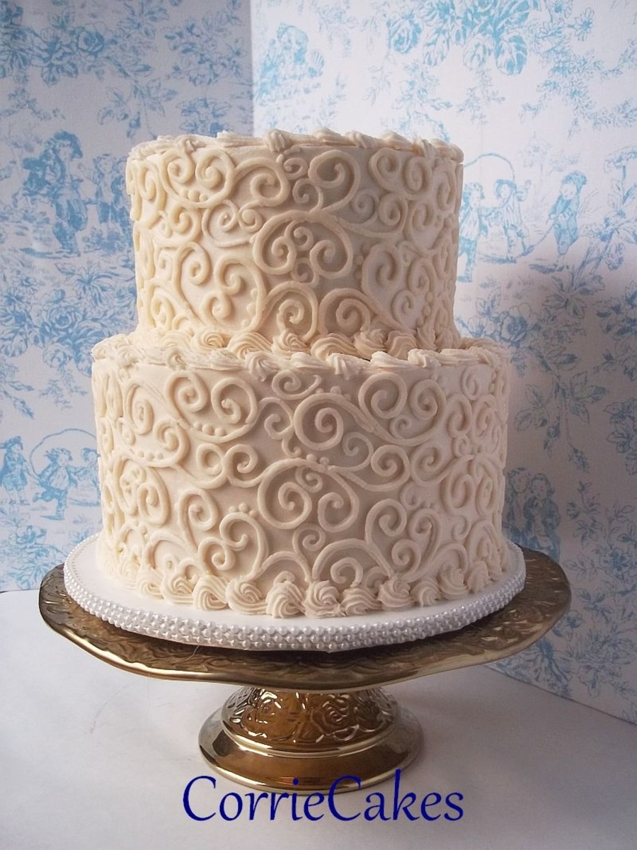 piping designs for wedding cakes lots and lots of scrolls cakecentral 18606