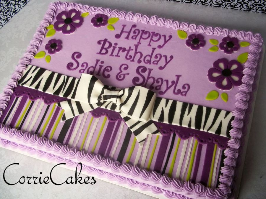 Purple And Zebra on Cake Central